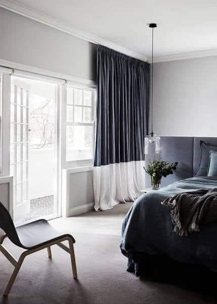 grey window dressings
