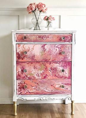 pink chalk bedroom drawer