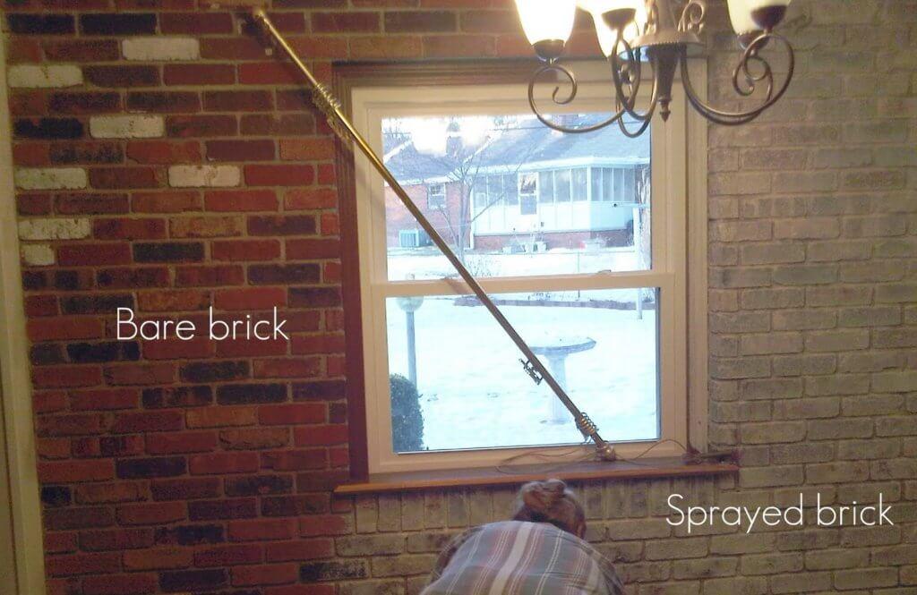 repaint brickwork