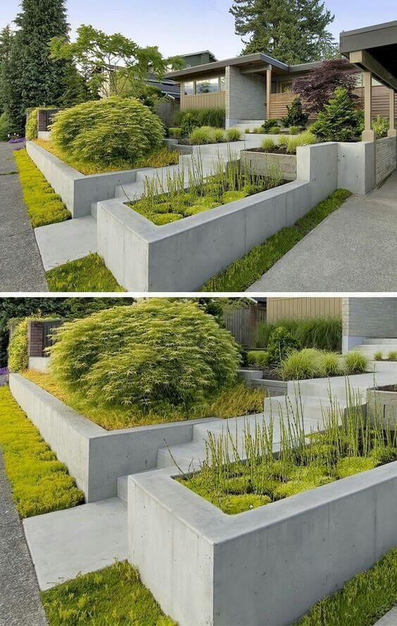 retaining wall planter design