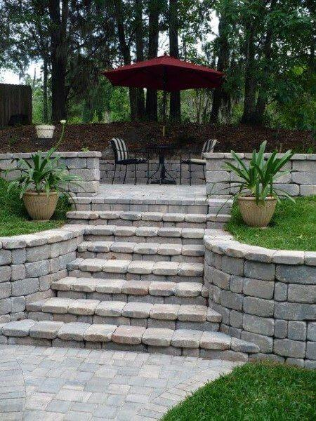 retaining walls steps