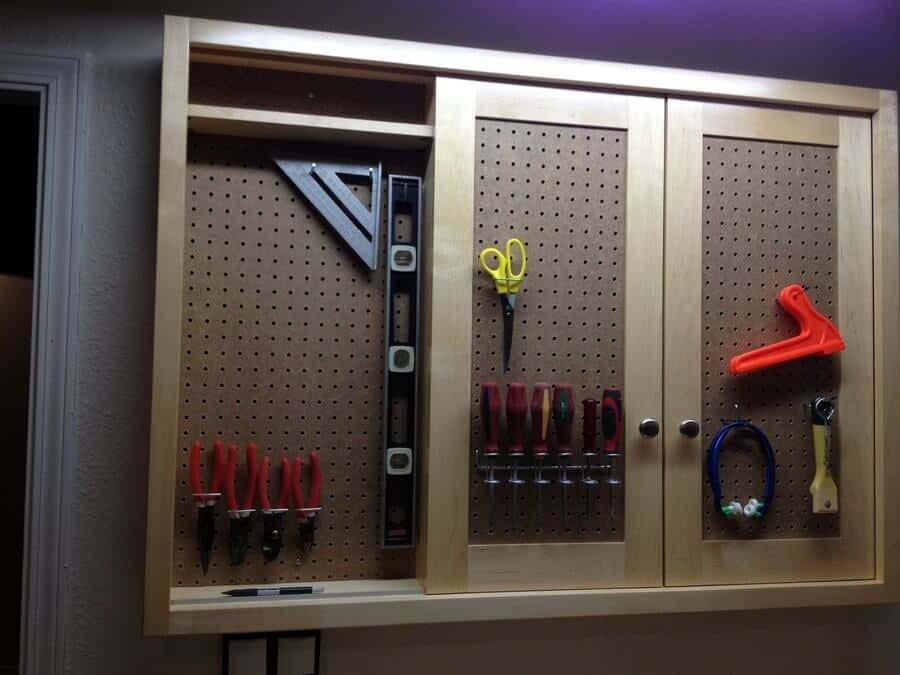 sliding peg boards for tools