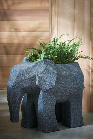 small grey elephant decor