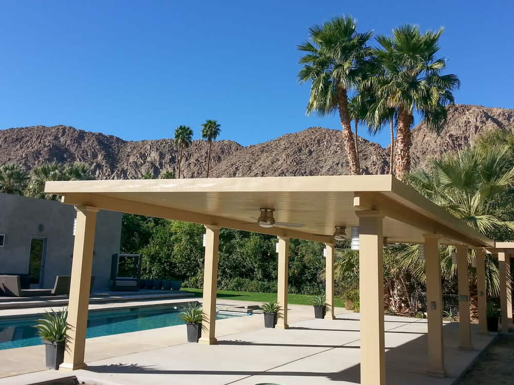 solid roof patio cover designs