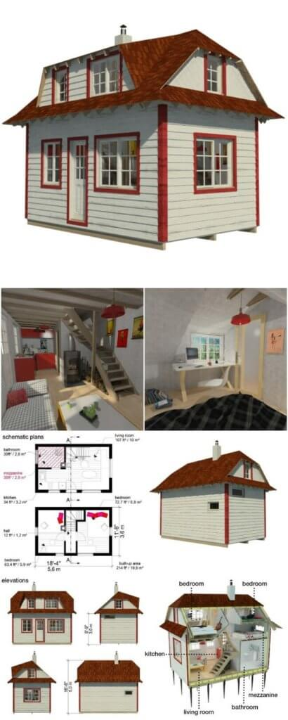 tiny house plan idea
