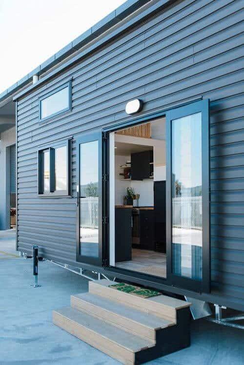 tiny house side door