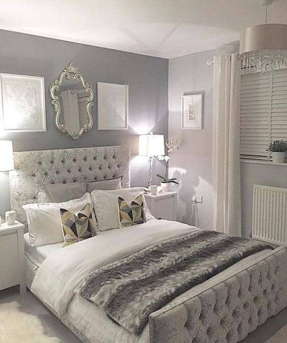 two tone grey bedroom ideas