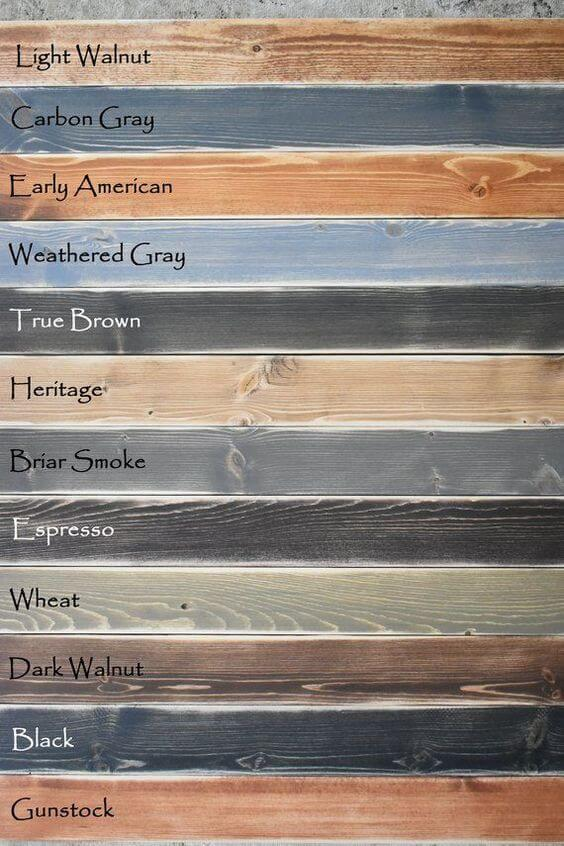 varnish colors for wood