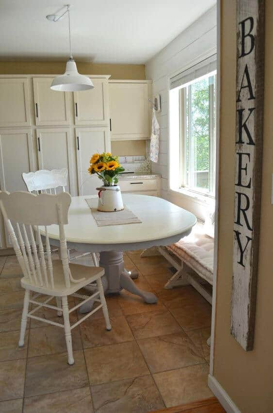 white chalk paint table dining rooms