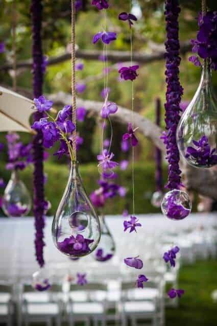 Amethyst hangers for porch decor