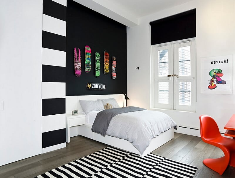 Bold Wall Designs for Teen Rooms