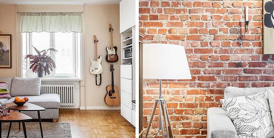 Brickwork Scandinavian Home Decor Design