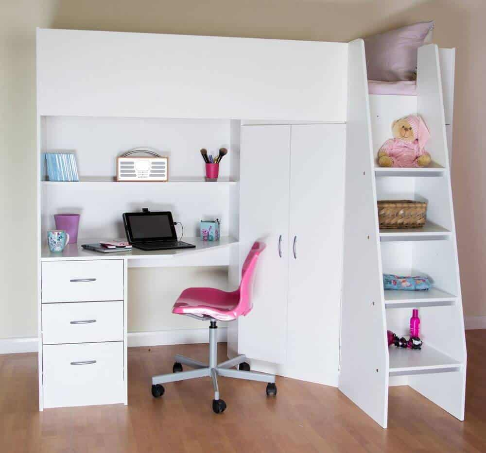 Cabin Beds for kids with Shelves