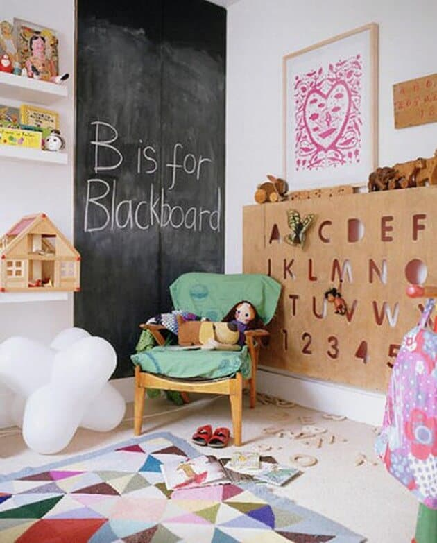 Chalkboard walls ideas for kids room