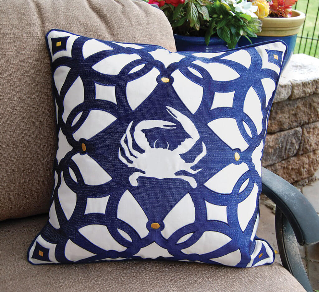 Crab cushions decor ideas