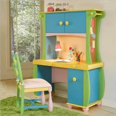 Dressing table and study desk in one for kids