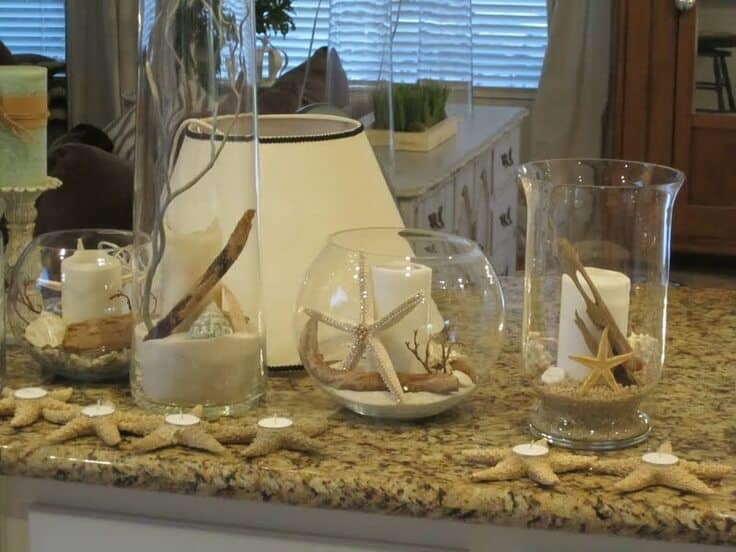 Glass Vases with sand ideas