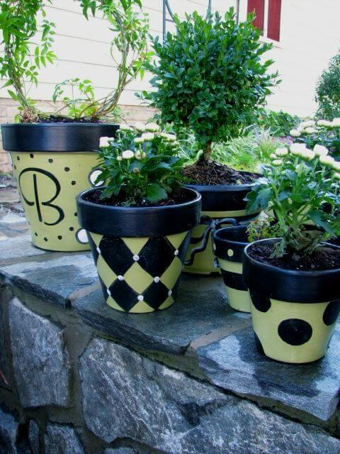 Handpainted Plant Pots