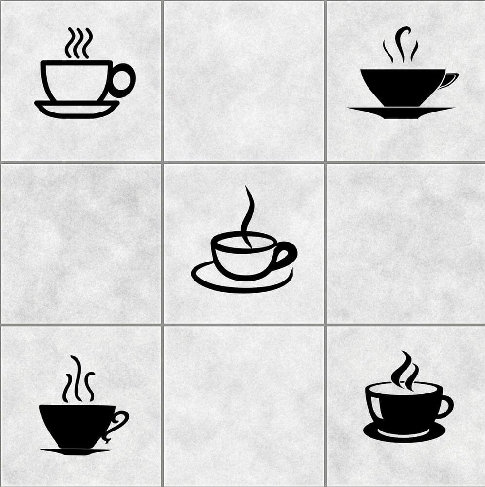 Images of coffee cups sticker idea for kitchen