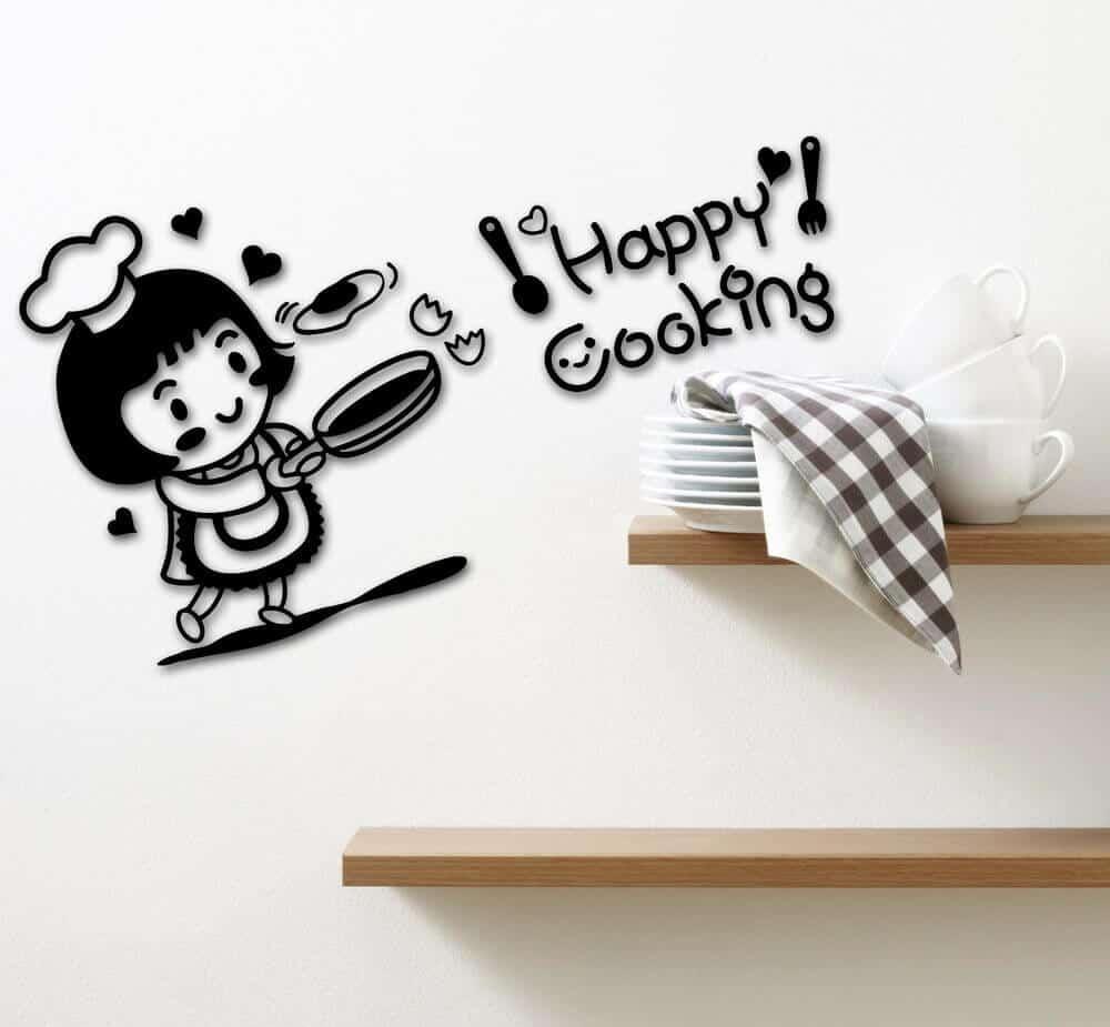 Jolly Chef Sticker ideas for kitchen decoration