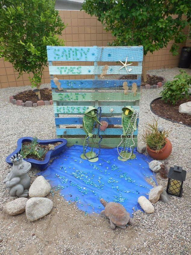 Nautical Pallet Wood for porch