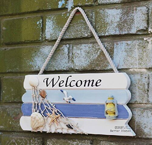 Nautical Wooden Welcome Signs for porch