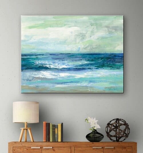 Ocean print canvas ideas