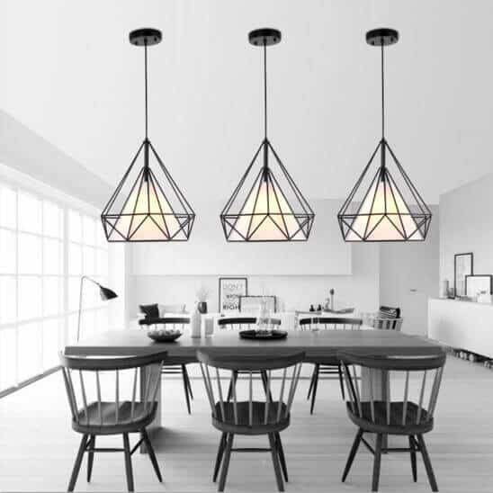 Open cage lampshades