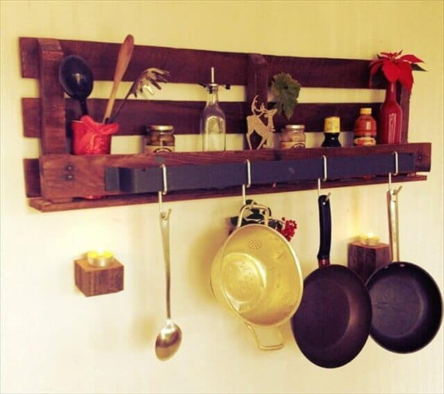 Pallet Pot Hangers Ideas for kitchen