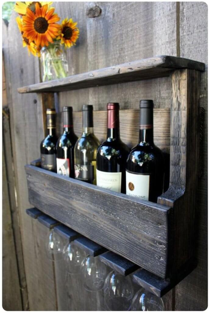 Pallet Wine Rack for kitchen