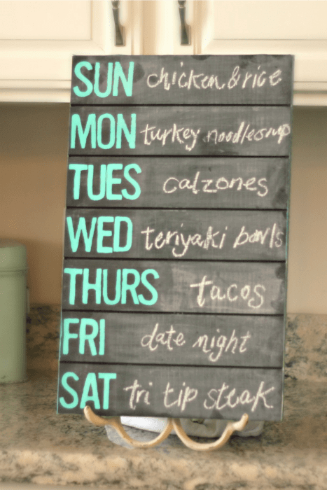 Pallet Wood Chalkboard Menu Home Decor Ideas