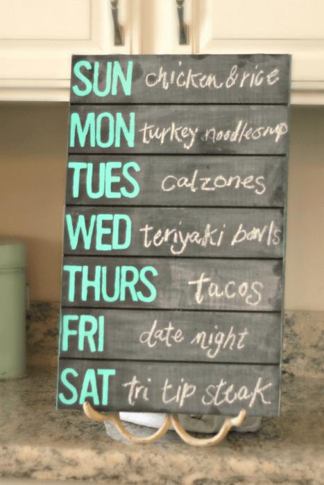 Pallet Wood Chalkboard Menu Home Decor Ideas