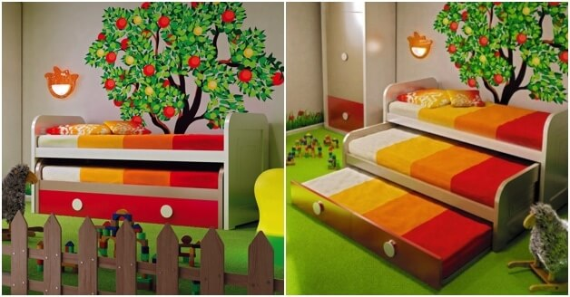 Pull out third beds for kids