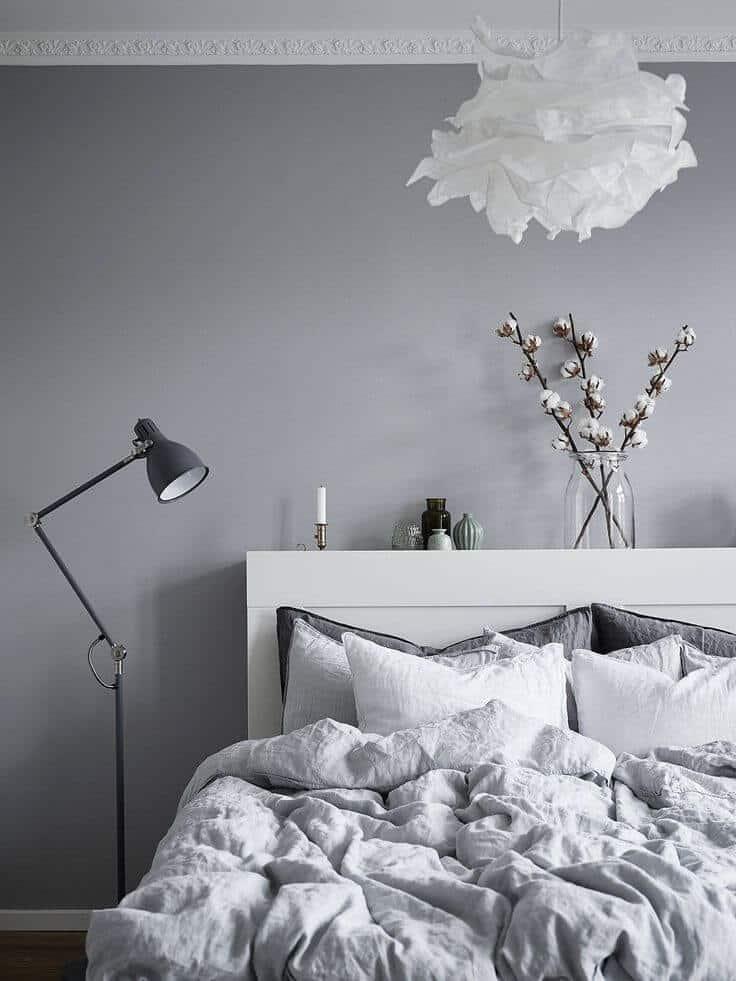 Soft Silk Scandinavian Bedroom Idea