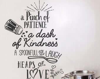 Spoonfuls of love kitchen sticker