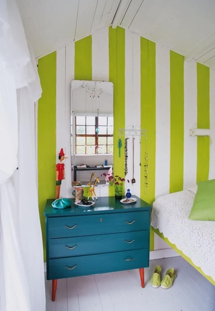 Stripes walls ideas for teens