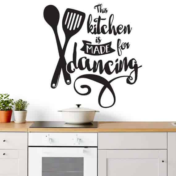 This kitchen is made for dancing sticker