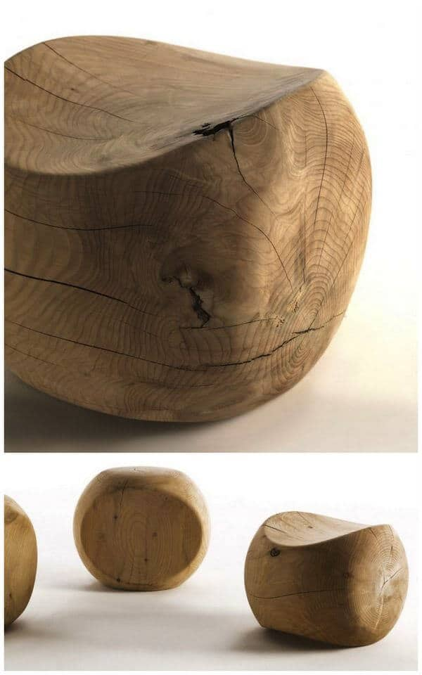 Unfinished wood scandinavian design