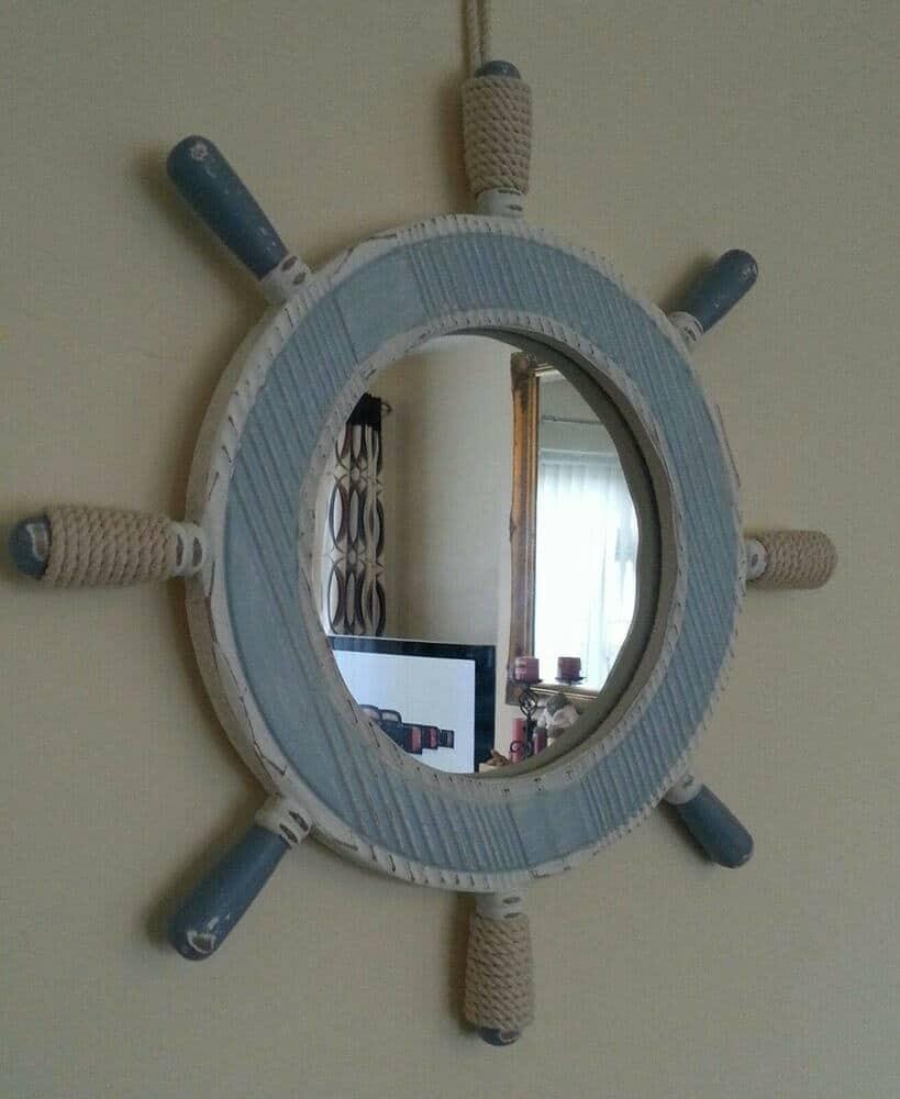 Wall Mounted Ship Wheel Decor Ideas