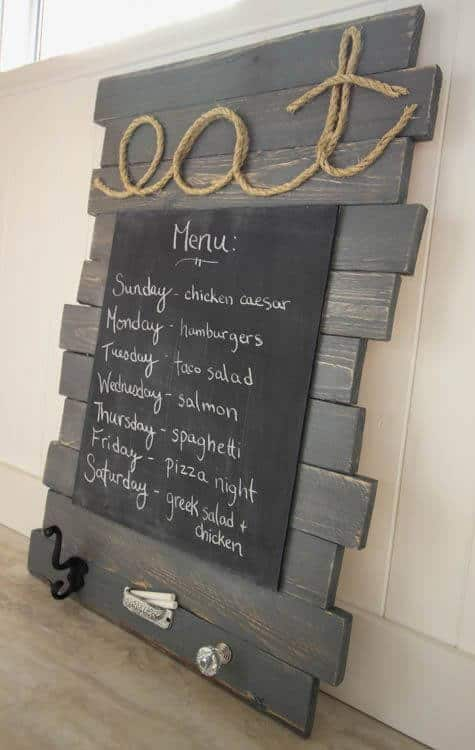 Wood Painted Chalkboard Menu For Home