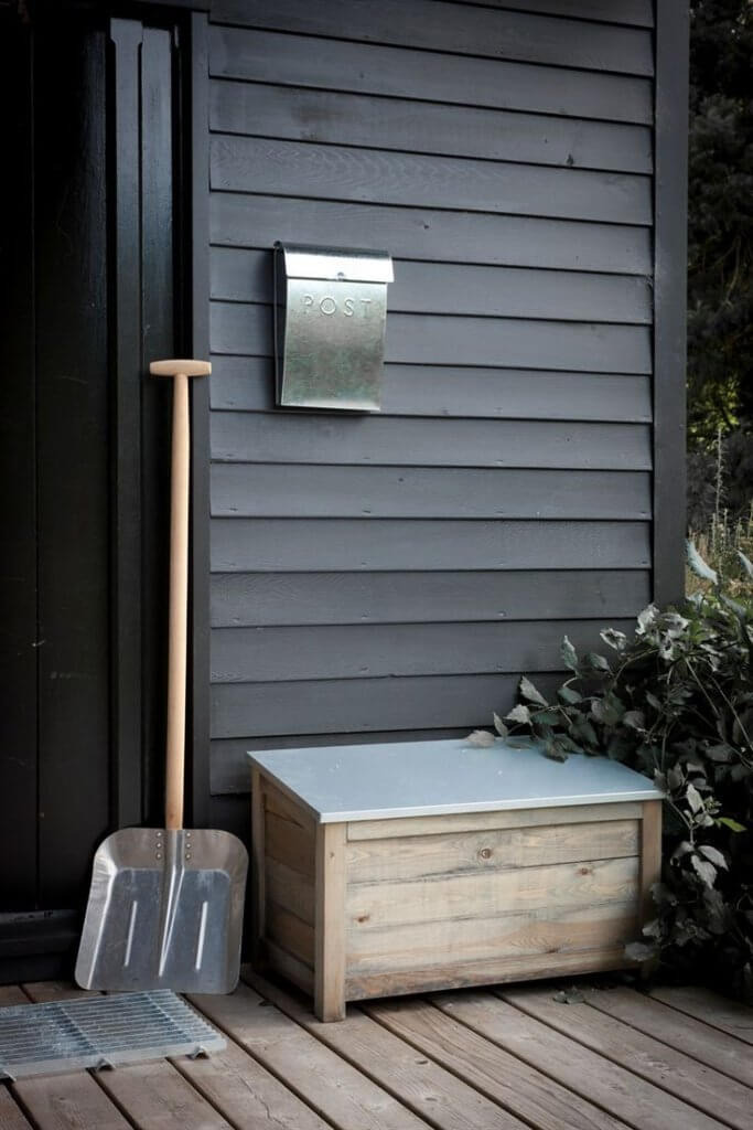 Wooden Crates winter porch