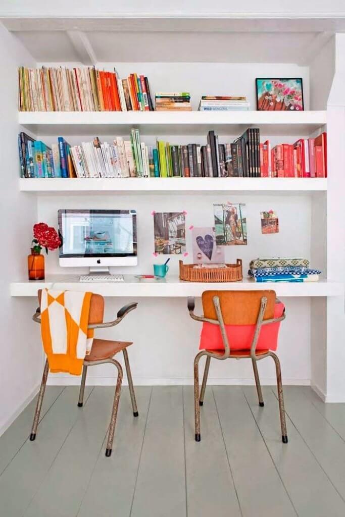 above desk shelves for storage