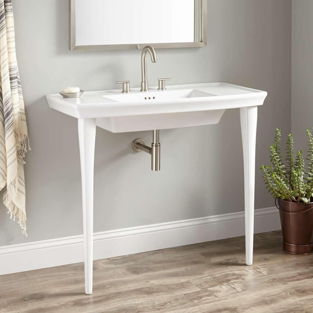 console sink bathroom