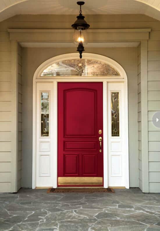 deep red paint for front door