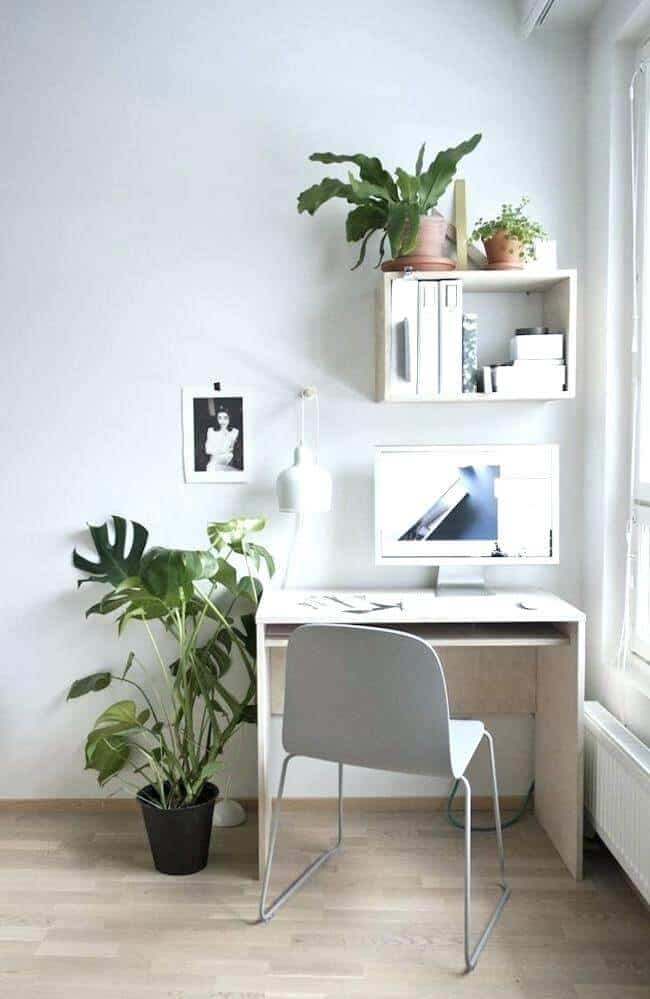 grey corner office ideas