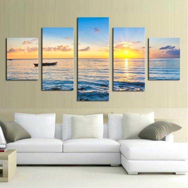 marine canvas in seaside