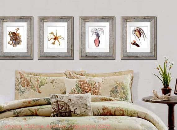 sea creatures wall decor