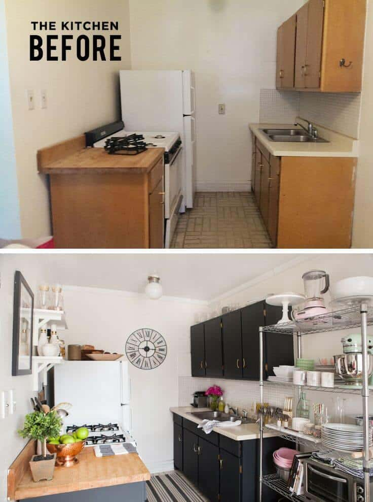 small kitchen decor before and after