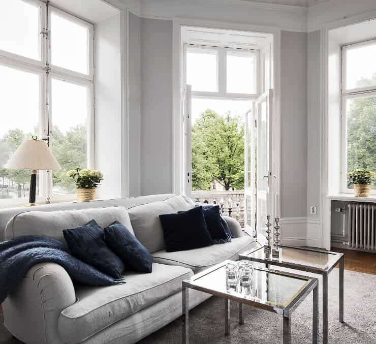 white and light grey apartment