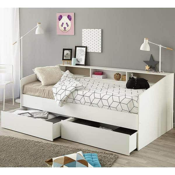 white sofa bed Teen Room decor ideas